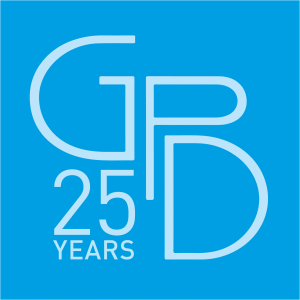 25 Years Blue Logo
